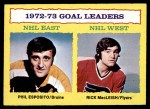 1973 Topps #1   -  Phil Esposito / Rick MacLeish Goals Leaders  Front Thumbnail