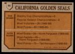 1973 Topps #95    Seals Team Back Thumbnail