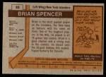 1973 Topps #83  Brian Spencer   Back Thumbnail