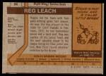 1973 Topps #84  Reggie Leach   Back Thumbnail