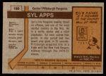 1973 Topps #160  Syl Apps   Back Thumbnail