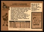 1975 O-Pee-Chee NHL #154  Larry Carriere  Back Thumbnail