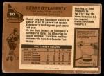 1975 O-Pee-Chee NHL #307  Gerry O'Flaherty  Back Thumbnail