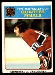 1975 O-Pee-Chee NHL #5   Quarter Finals Montreal 4 Vancouver 1 Front Thumbnail