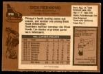 1975 O-Pee-Chee NHL #218  Dick Redmond  Back Thumbnail