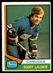 1974 O-Pee-Chee NHL #392  Bobby Lalonde  Front Thumbnail