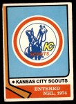 1974 O-Pee-Chee NHL #169   Scouts Emblem Front Thumbnail