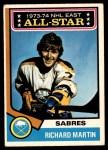 1974 O-Pee-Chee NHL #127   -  Richard Martin All-Star Front Thumbnail