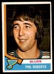1974 O-Pee-Chee NHL #208  Phil Roberto  Front Thumbnail