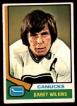 1974 O-Pee-Chee NHL #182  Barry Wilkins  Front Thumbnail