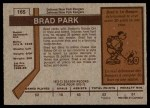 1973 O-Pee-Chee #165  Brad Park  Back Thumbnail