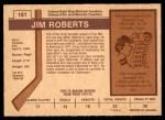 1973 O-Pee-Chee #181  Jim Roberts  Back Thumbnail