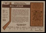 1973 O-Pee-Chee #205  Bill Lesuk  Back Thumbnail