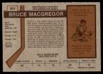 1973 O-Pee-Chee #201  Bruce MacGregor  Back Thumbnail