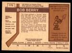 1973 O-Pee-Chee #175  Bob Berry  Back Thumbnail
