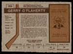 1973 O-Pee-Chee #250  Gerry O'Flaherty  Back Thumbnail