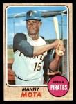 1968 Topps #325  Manny Mota  Front Thumbnail