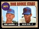 1968 Topps #177   -  Nolan Ryan / Jerry Koosman Mets Rookies Front Thumbnail