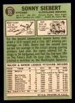 1967 Topps #95 xGL Sonny Siebert  Back Thumbnail