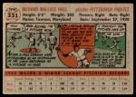 1956 Topps #331  Dick Hall  Back Thumbnail