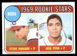 1969 Topps #339   -  Steve Mingori / Jose Pena Reds Rookies Front Thumbnail