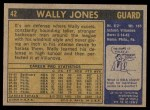 1971 Topps #42  Wally Jones   Back Thumbnail