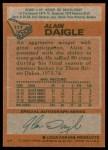 1978 Topps #117  Alain Daigle  Back Thumbnail