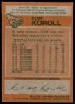 1978 Topps #239  Cliff Koroll  Back Thumbnail