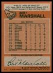 1978 Topps #49  Bert Marshall  Back Thumbnail