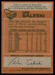 1978 Topps #257  Don Saleski  Back Thumbnail