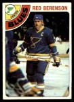 1978 Topps #218  Red Berenson  Front Thumbnail