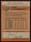 1978 Topps #147  Yvon Lambert  Back Thumbnail