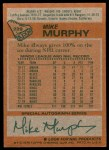 1978 Topps #229  Mike Murphy  Back Thumbnail