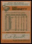 1978 Topps #31  Curt Bennett  Back Thumbnail