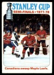 1978 Topps #262   Stanley Cup Semi-finals - Canadiens Sweep Maple Leafs Front Thumbnail