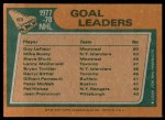 1978 Topps #63   -  Guy Lafleur / Mike Bossy / Steve Shutt League Leaders Back Thumbnail