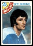 1978 Topps #254  Dave Burrows  Front Thumbnail