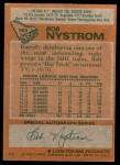 1978 Topps #153  Bob Nystrom  Back Thumbnail