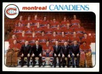 1978 Topps #200   Canadiens Team Checklist Front Thumbnail