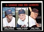 1967 Topps #241   -  Harmon Killebrew / Boog Powell / Frank Robinson AL RBI Leaders Front Thumbnail