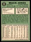 1967 Topps #435  Mack Jones  Back Thumbnail