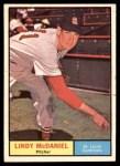 1961 Topps #266  Lindy McDaniel  Front Thumbnail