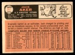1966 Topps #287  Jack Aker  Back Thumbnail