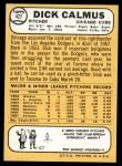 1968 Topps #427  Dick Calmus  Back Thumbnail