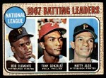 1968 Topps #1   -  Roberto Clemente / Matty Alou / Tony Gonzalez NL Batting Leaders Front Thumbnail