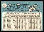 1965 Topps #177  Pete Mikkelsen  Back Thumbnail