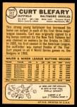 1968 Topps #312  Curt Blefary  Back Thumbnail