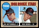 1968 Topps #301   -  George Mitterwald / Rick Renick Twins Rookies Front Thumbnail