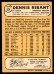 1968 Topps #326  Dennis Ribant  Back Thumbnail