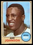 1968 Topps #441  Alex Johnson  Front Thumbnail